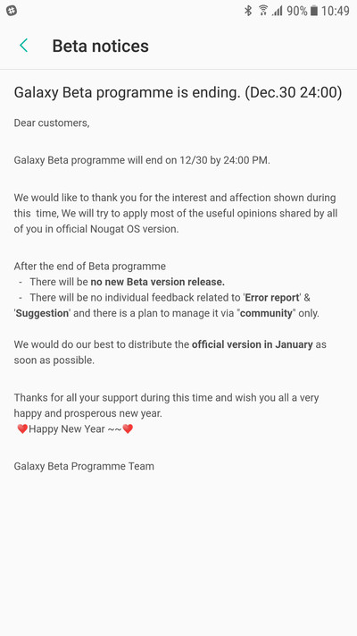 Android Nougat Update For Galaxy S7