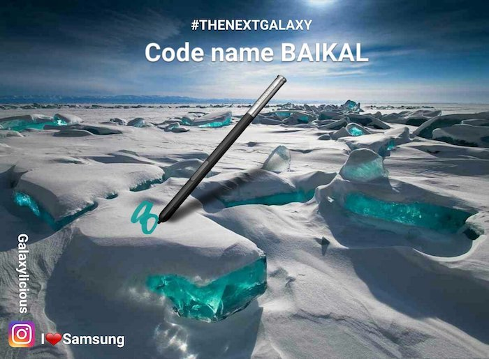 Galaxy Note 8 is Codenamed Baikal