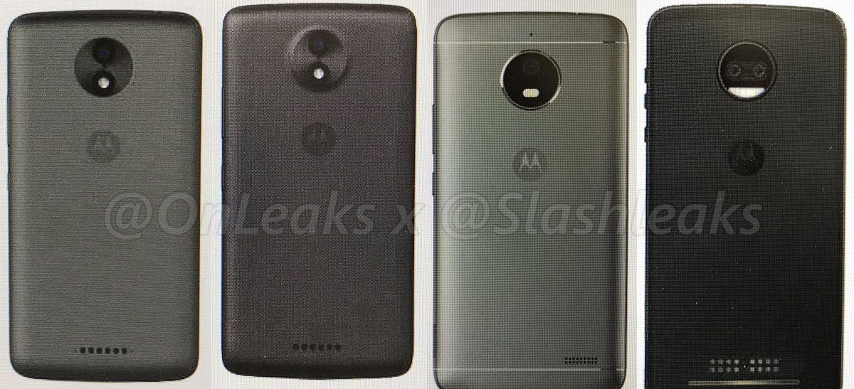 Here are the Press Renders of Moto C, C Plus, E4 & Z2/Z2 Force 1