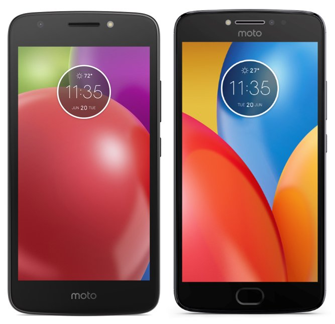 Moto E4 and E4 Plus Side by Side