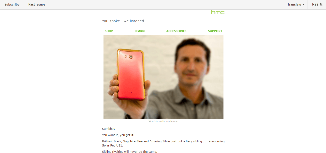 Mail from HTC