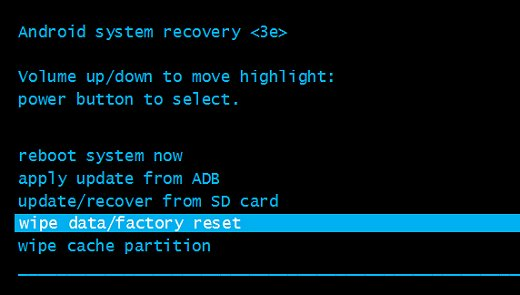 Factory Reset to fix issues