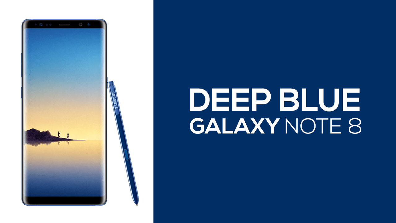 Deep Blue Galaxy Note 8