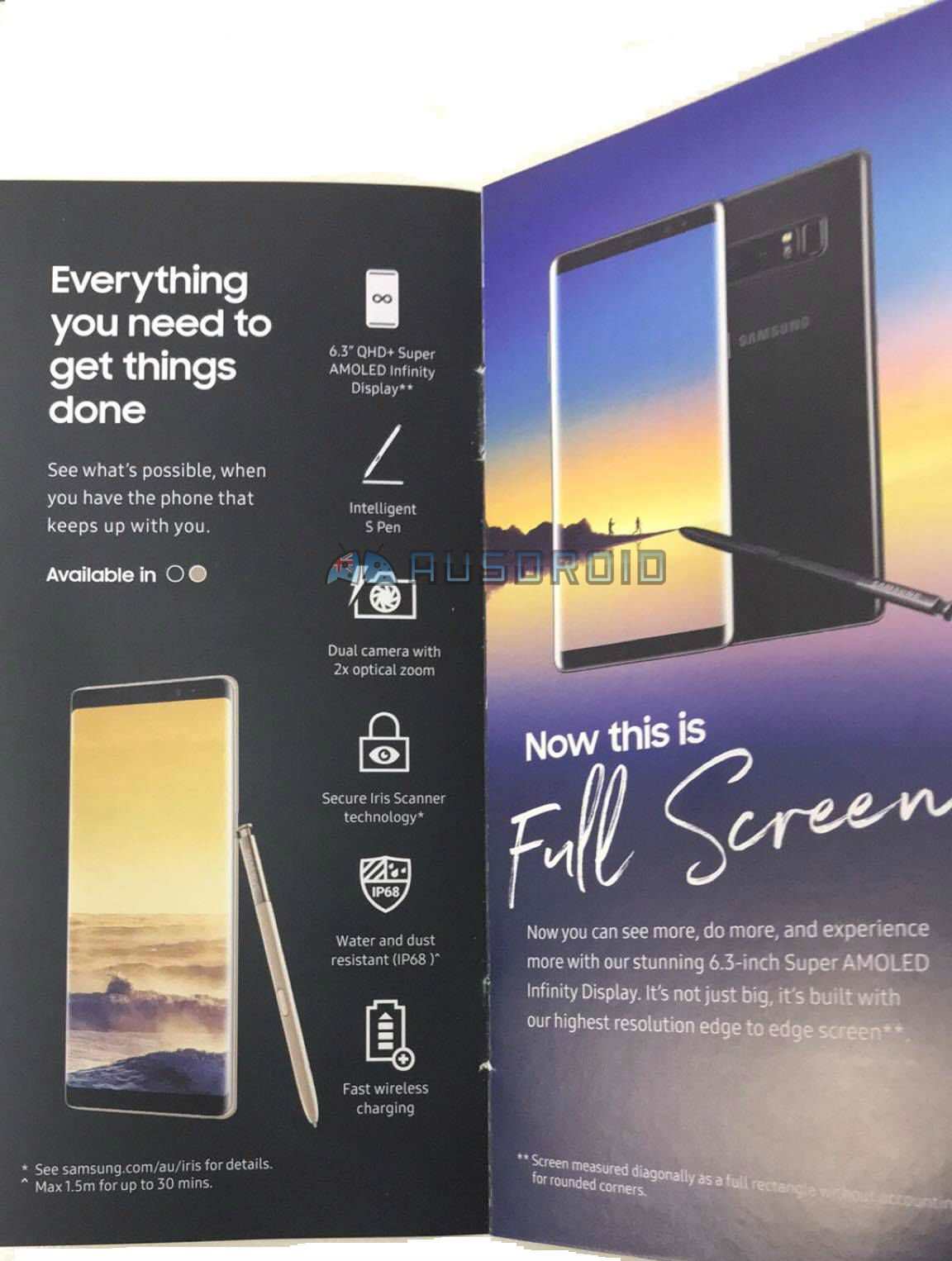 Galaxy Note 8 Marketing Material