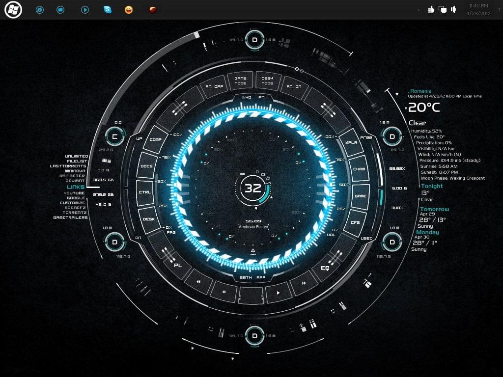 tech-a best rainmeter skins