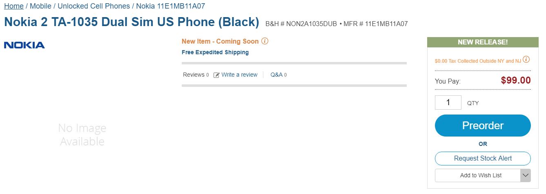 Nokia 2 Price