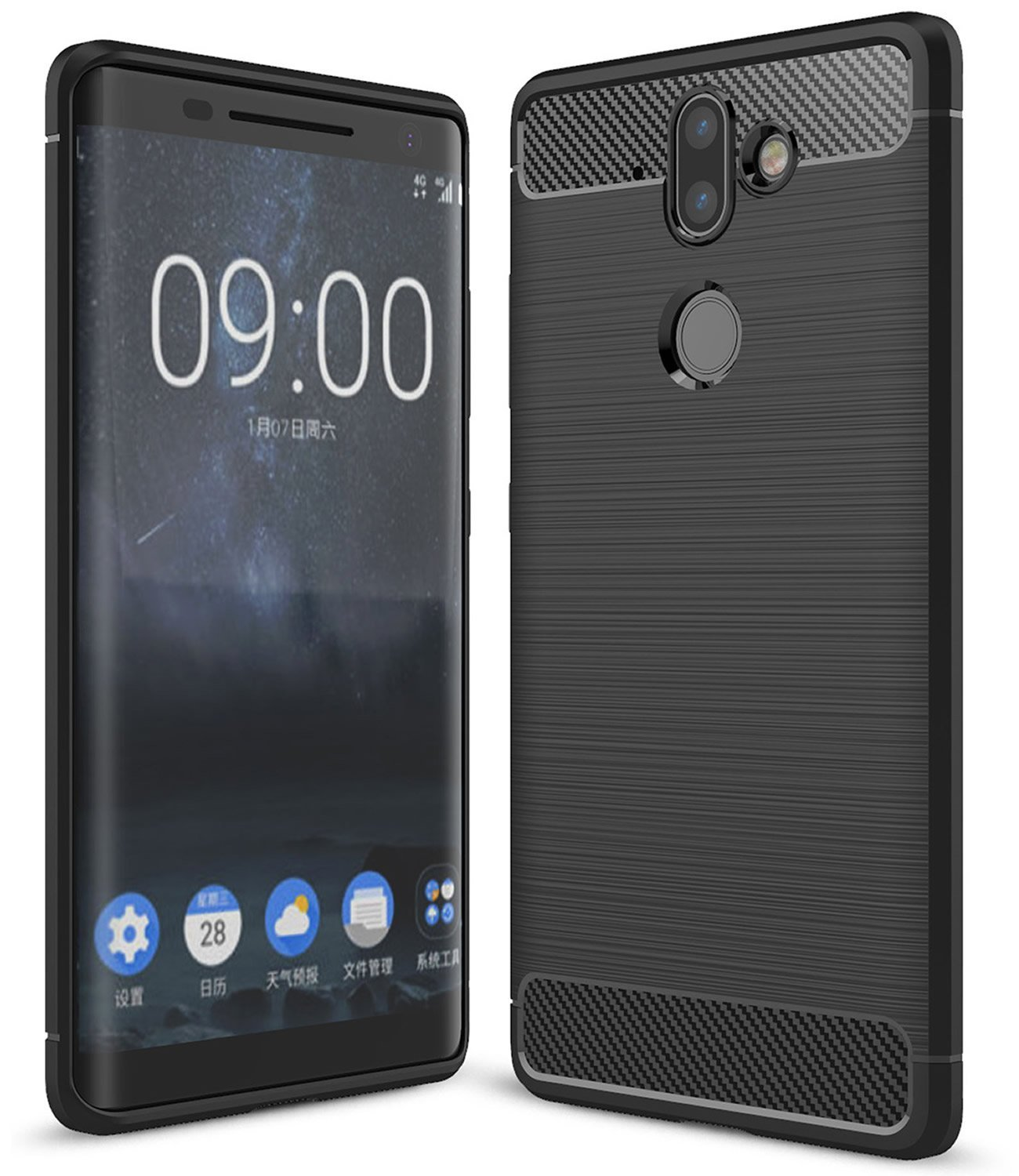 Nokia 9 case render shows 18:9 Display with curved edges & Dual Cameras 1