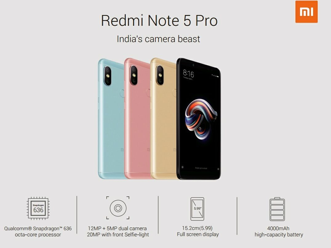 [UPDATE - PRICE] Here's all you need to know about Xiaomi Redmi Note 5 & Xiaomi Note 5 Pro 1