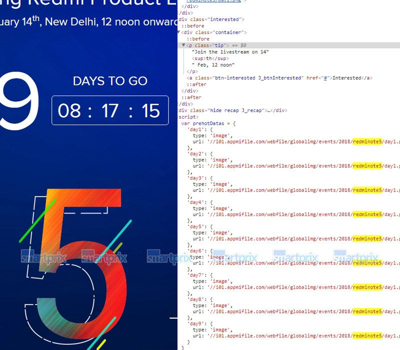 Xiaomi Redmi Note 5 is launching on February 14, source code reveals 1