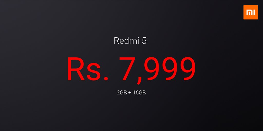 Xiaomi Redmi 5 launched in India in three variants, price starts at ₹7999 6