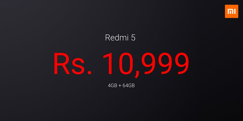 Xiaomi Redmi 5 launched in India in three variants, price starts at ₹7999 8