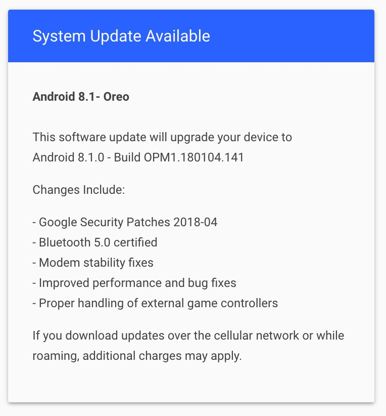 April Security Patch for Essential Phone