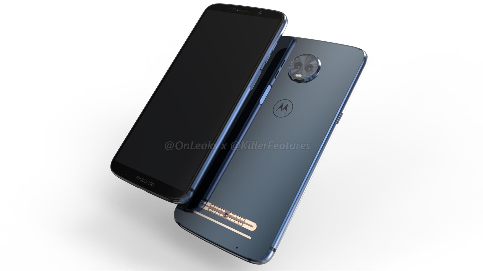 Moto Z3 Play render via OnLeaks