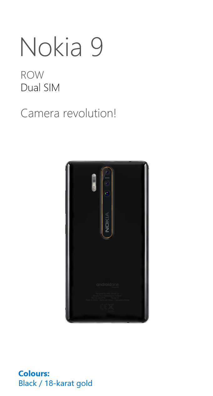 Nokia 9 is coming with triple camera setup, specifications leaked 1