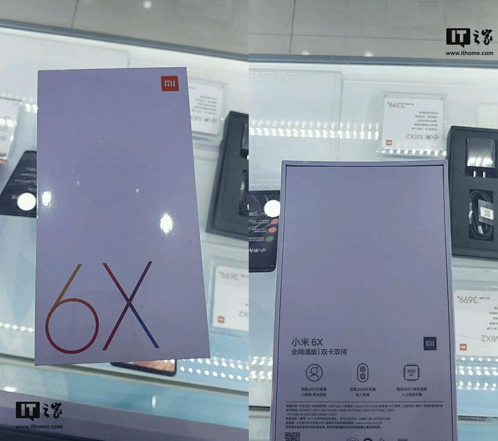 Xiaomi Mi 6X Retail Box
