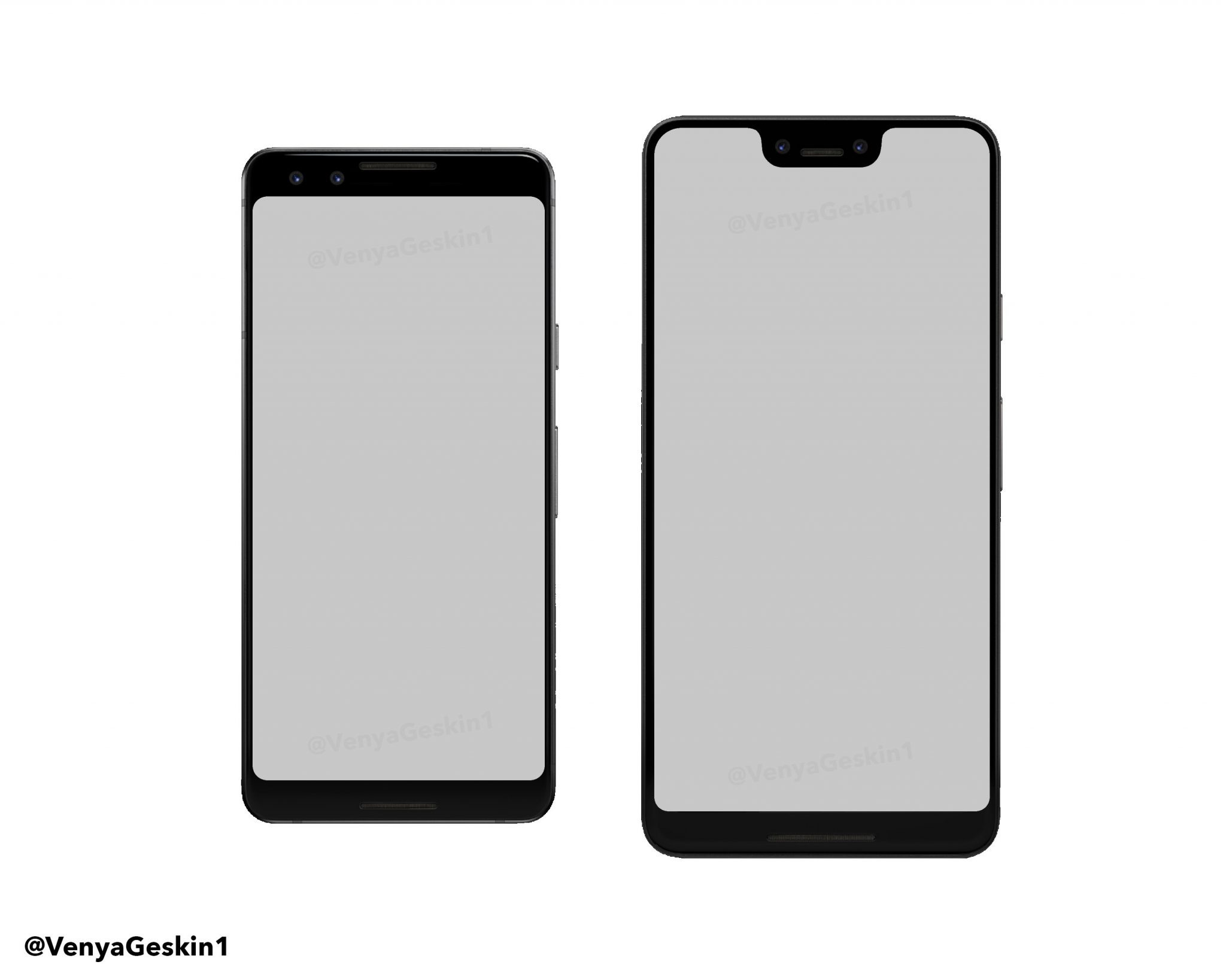 This is probably our first look at the design of Google Pixel 3 & Pixel 3 XL 1