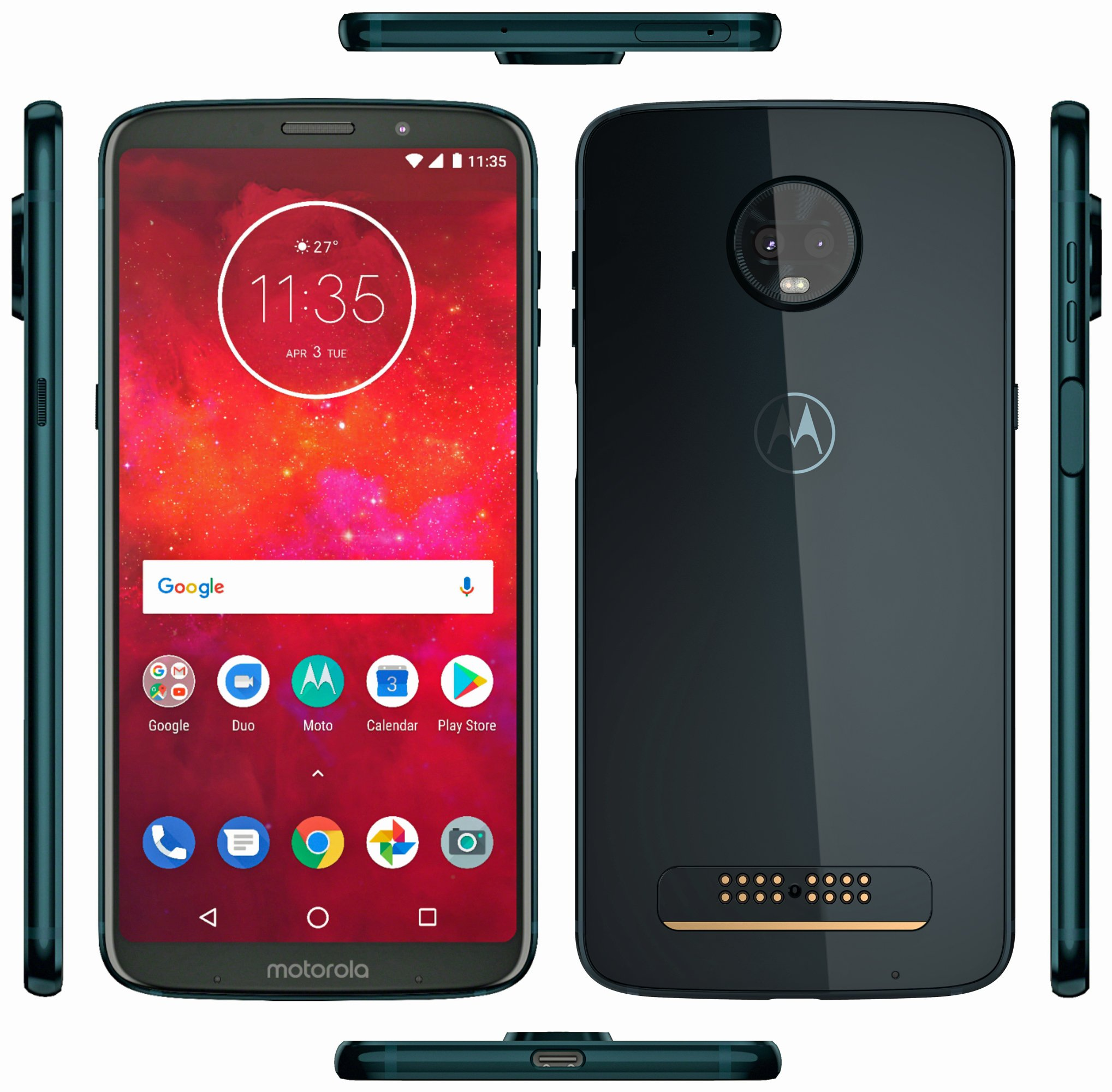 Latest Moto Z3 Play render in Deep Indigo confirms side mounted fingerprint scanner 1