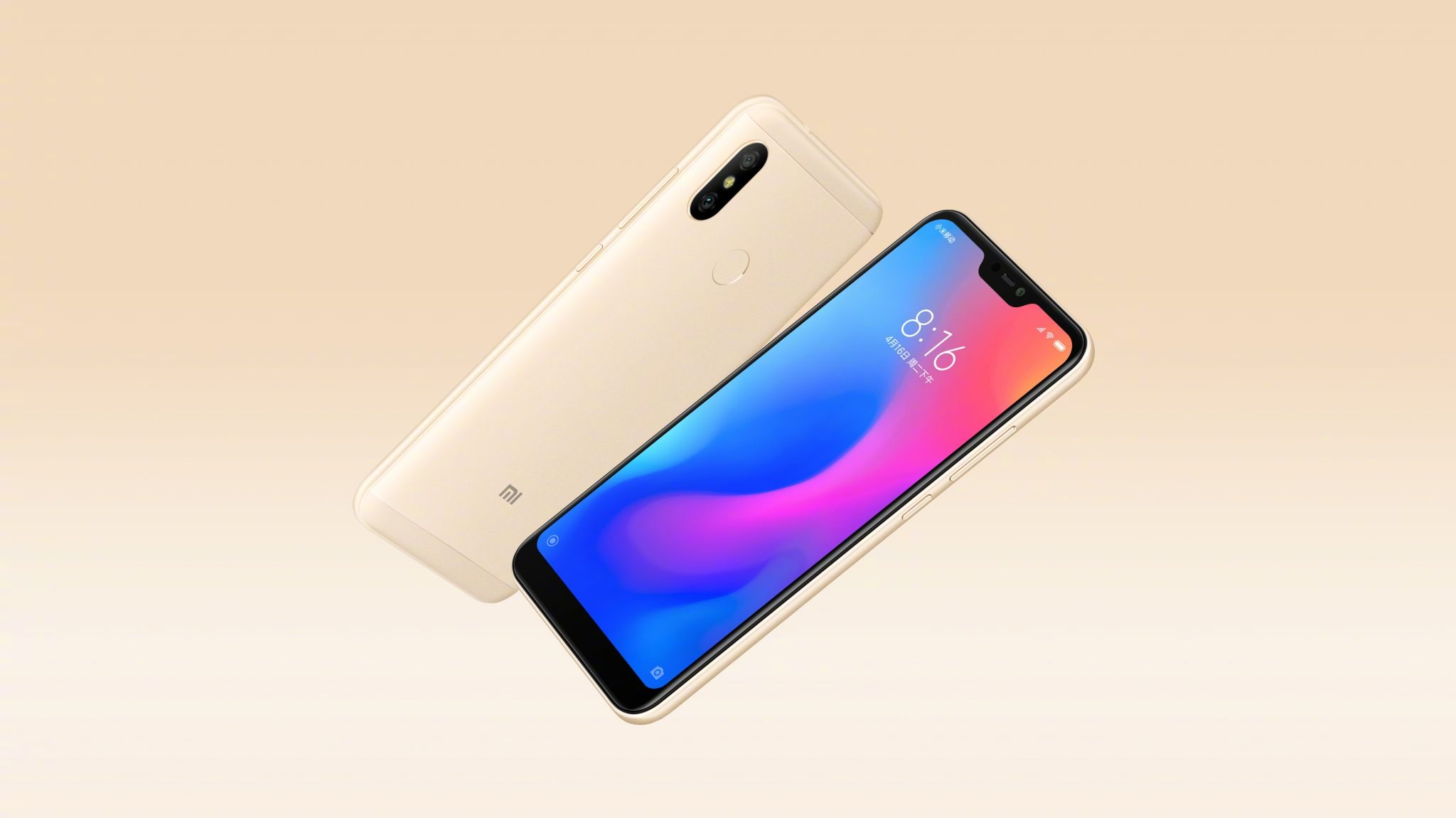 This is the Xiaomi Redmi 6 Pro with a Notch & dual cameras 4