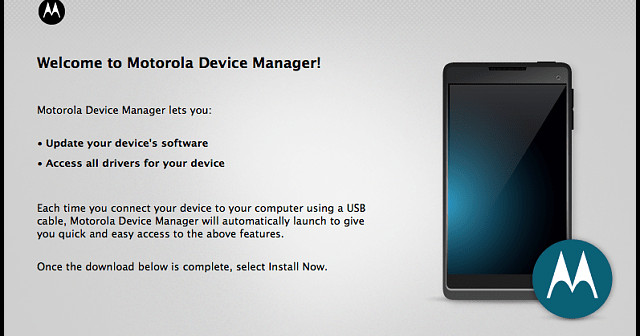 Motorola Device Manager Features