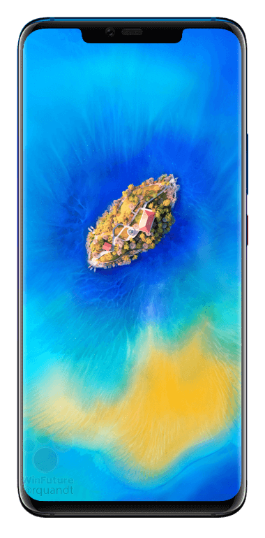 This is the Huawei Mate 20 with waterdrop notch & triple cameras 9