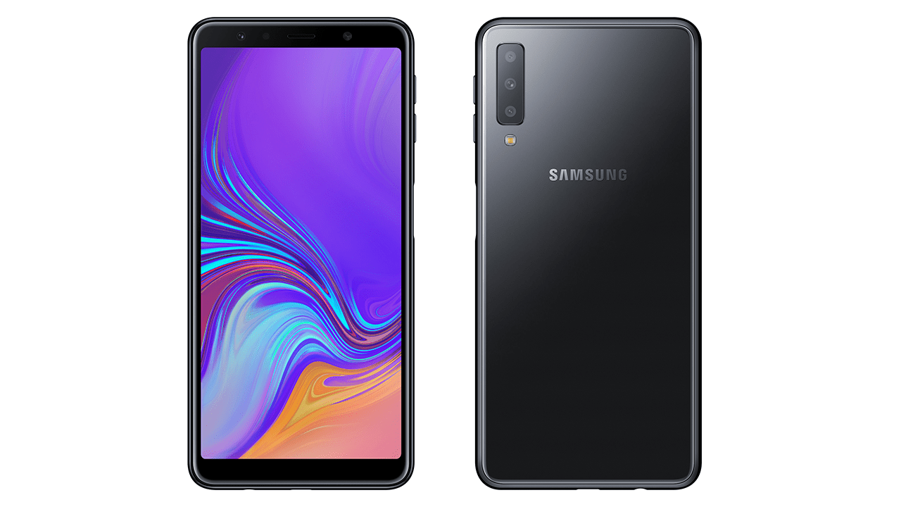 Samsung Galaxy A7 2018 in Black