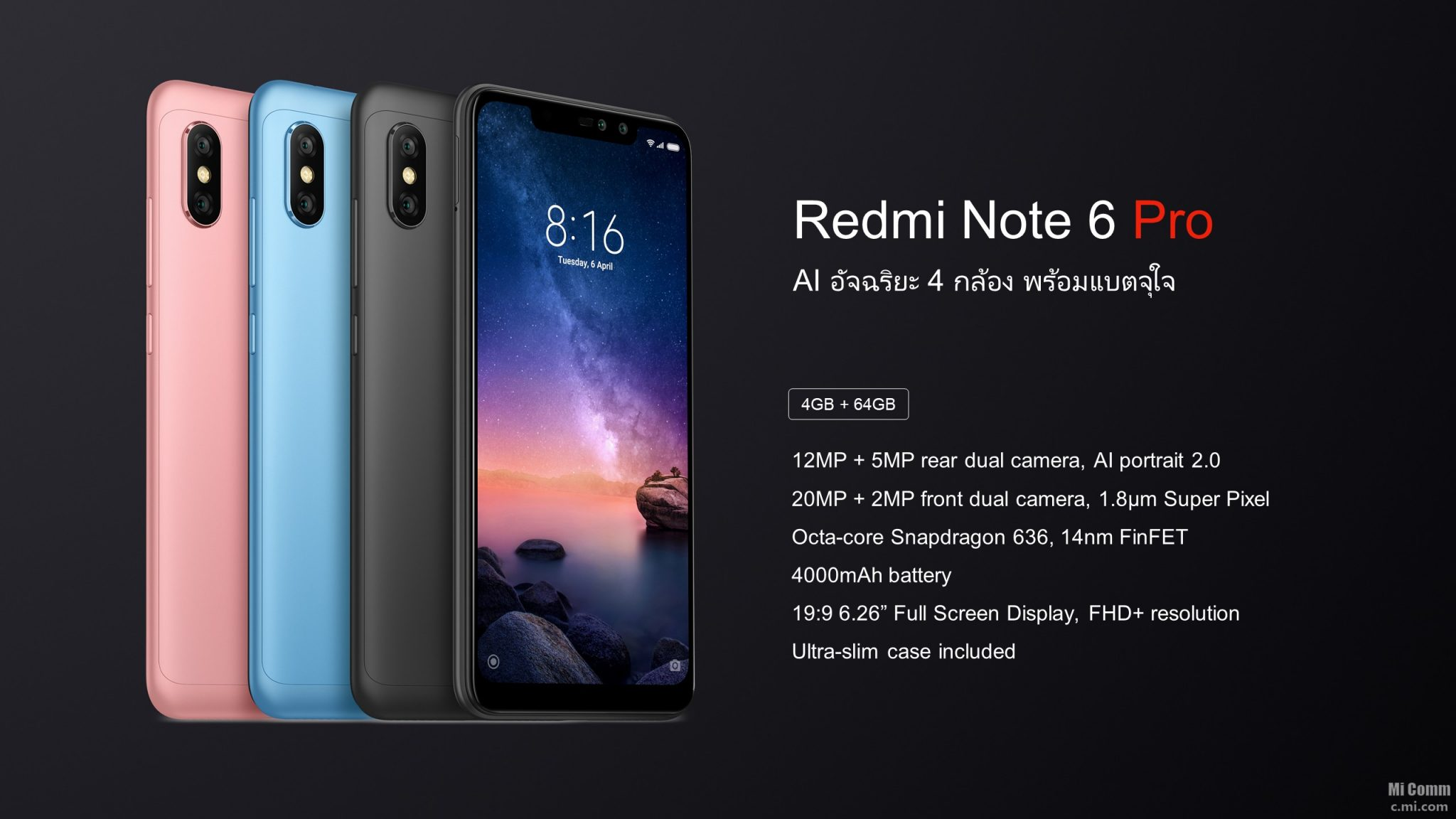 Xiaomi Redmi Note 6 Pro quietly announced in Thailand 10