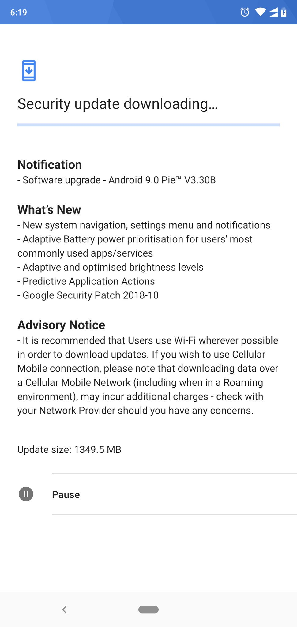 Stable Android Pie Update for Nokia 6.1 Plus