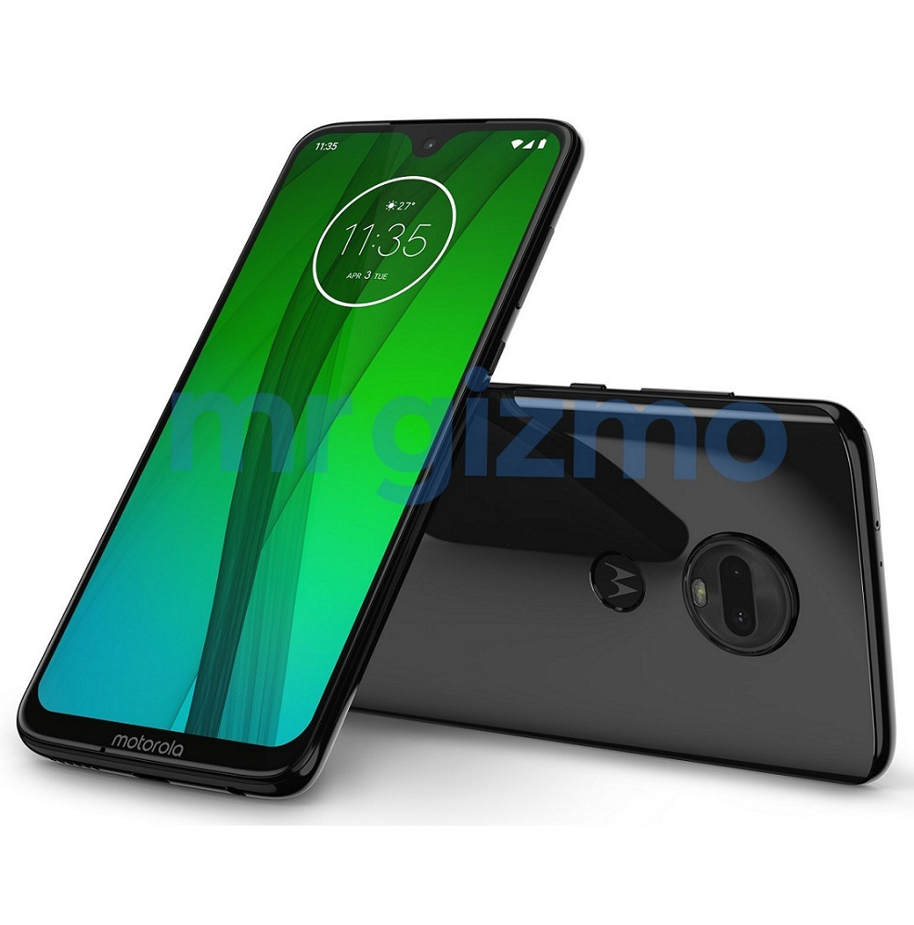 Moto G7 press render reveals waterdrop notch & glass back 3