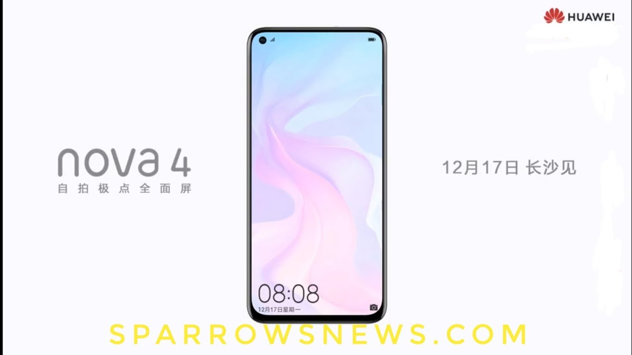 Huawei Nova 4 teaser reveals the design of phone yet again