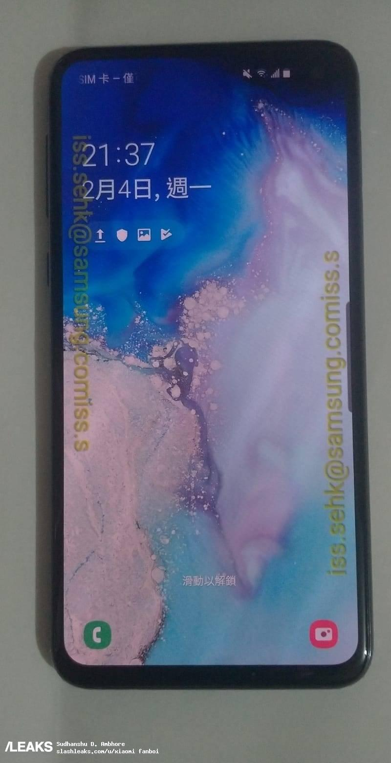 Here are the live images of the Samsung Galaxy S10e