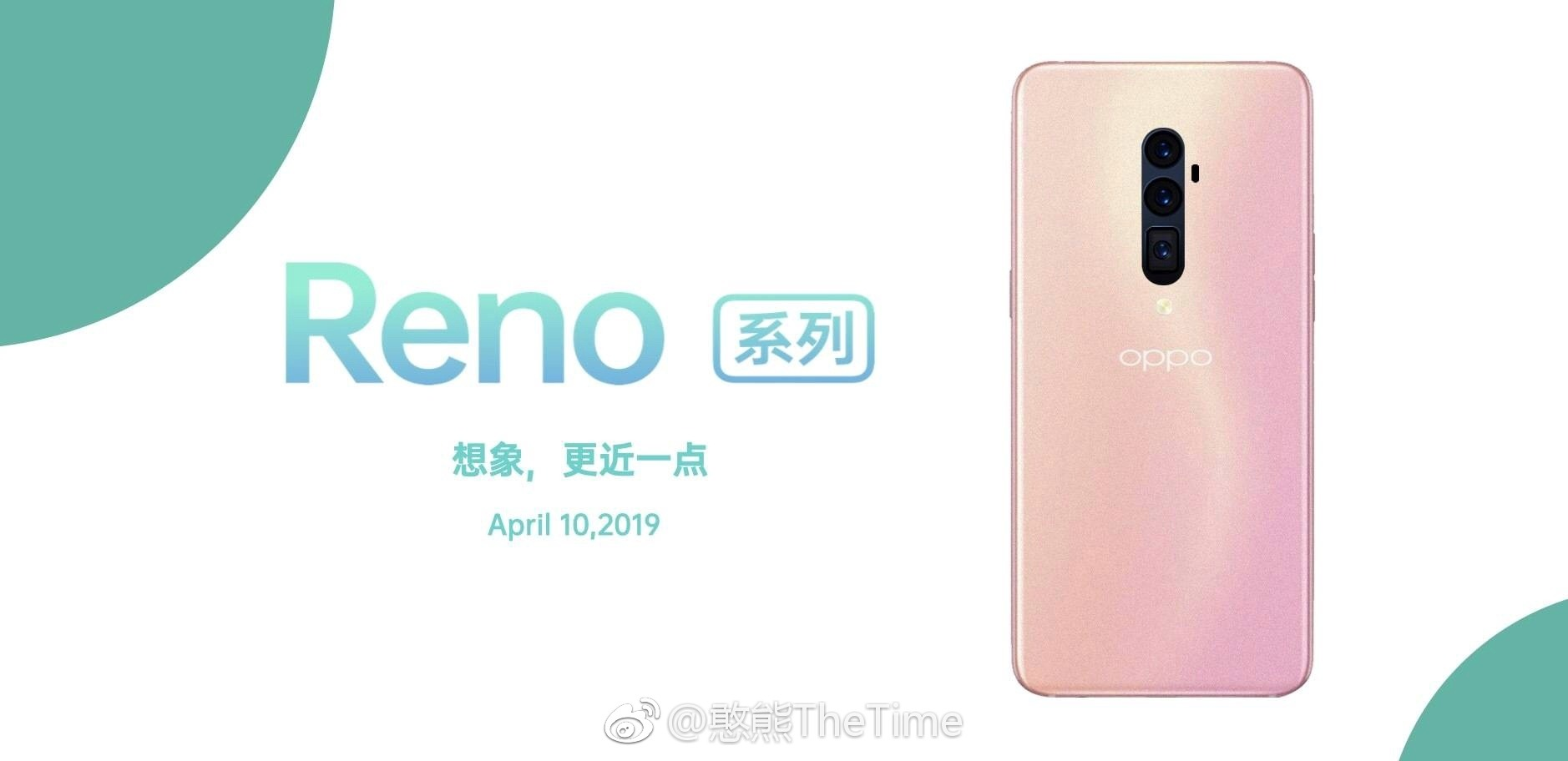 This is the Oppo Reno with triple cameras in four different colors