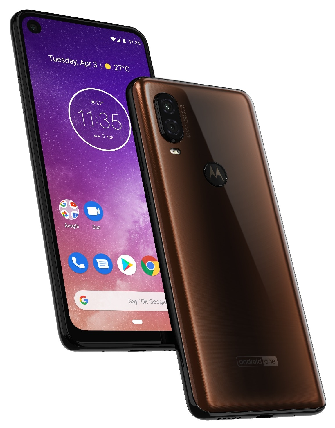 Motorola One Vision Press Render