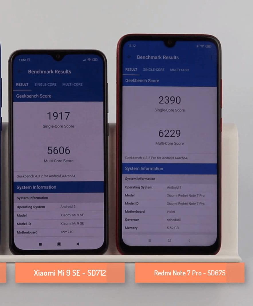 Snapdragon 675 vs Snapdragon 712