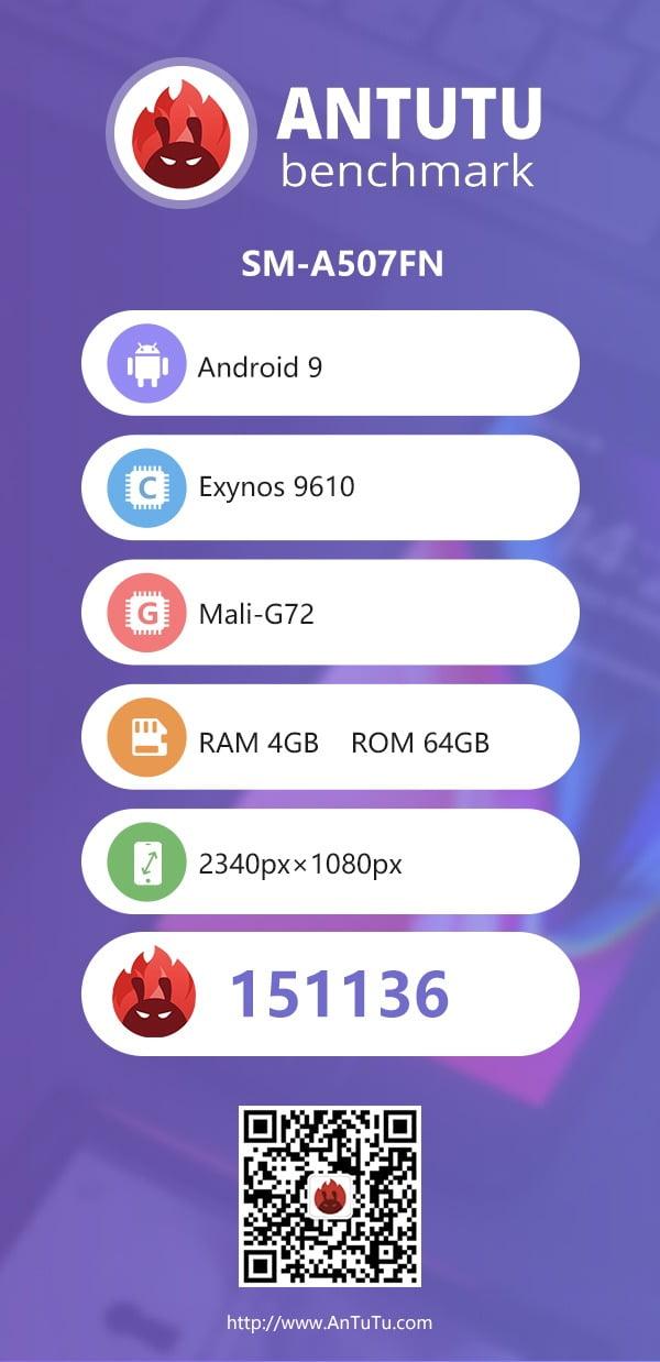 Samsung Galaxy A50s on AnTuTu benchmark
