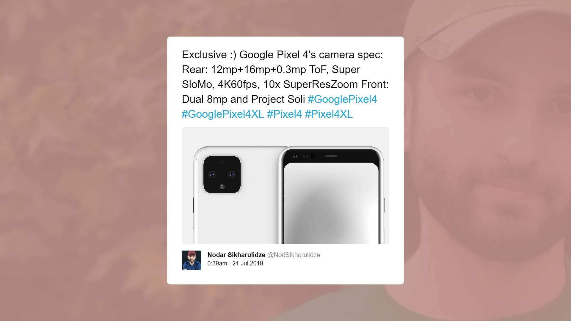 Google Pixel 4 Camera Specs