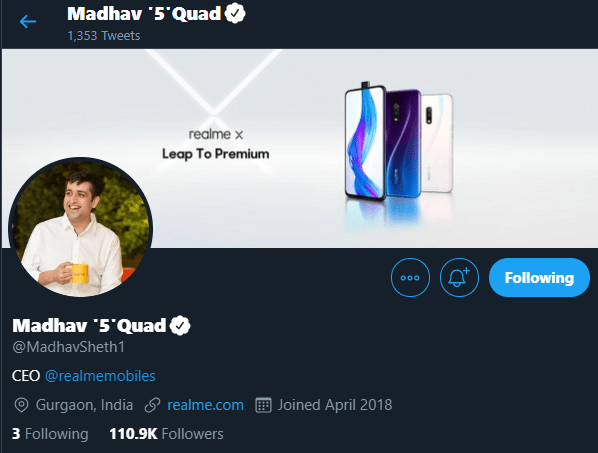 Realme 5 is the upcoming 64MP Quad Camera phone, CEO hints