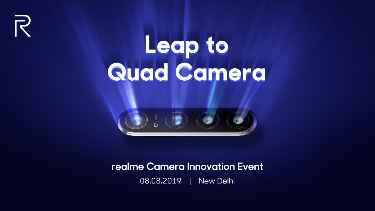 Realme 64MP Quad Camera tech to be unveiled on August 8