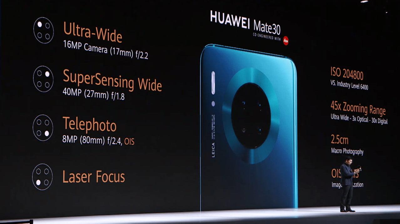 Huawei Mate 30 Cameras