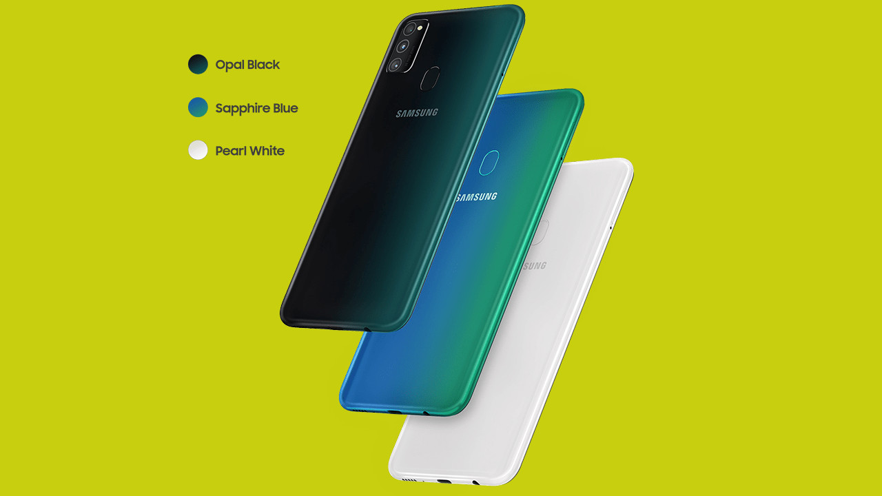 Samsung Galaxy M30s Rear Colours