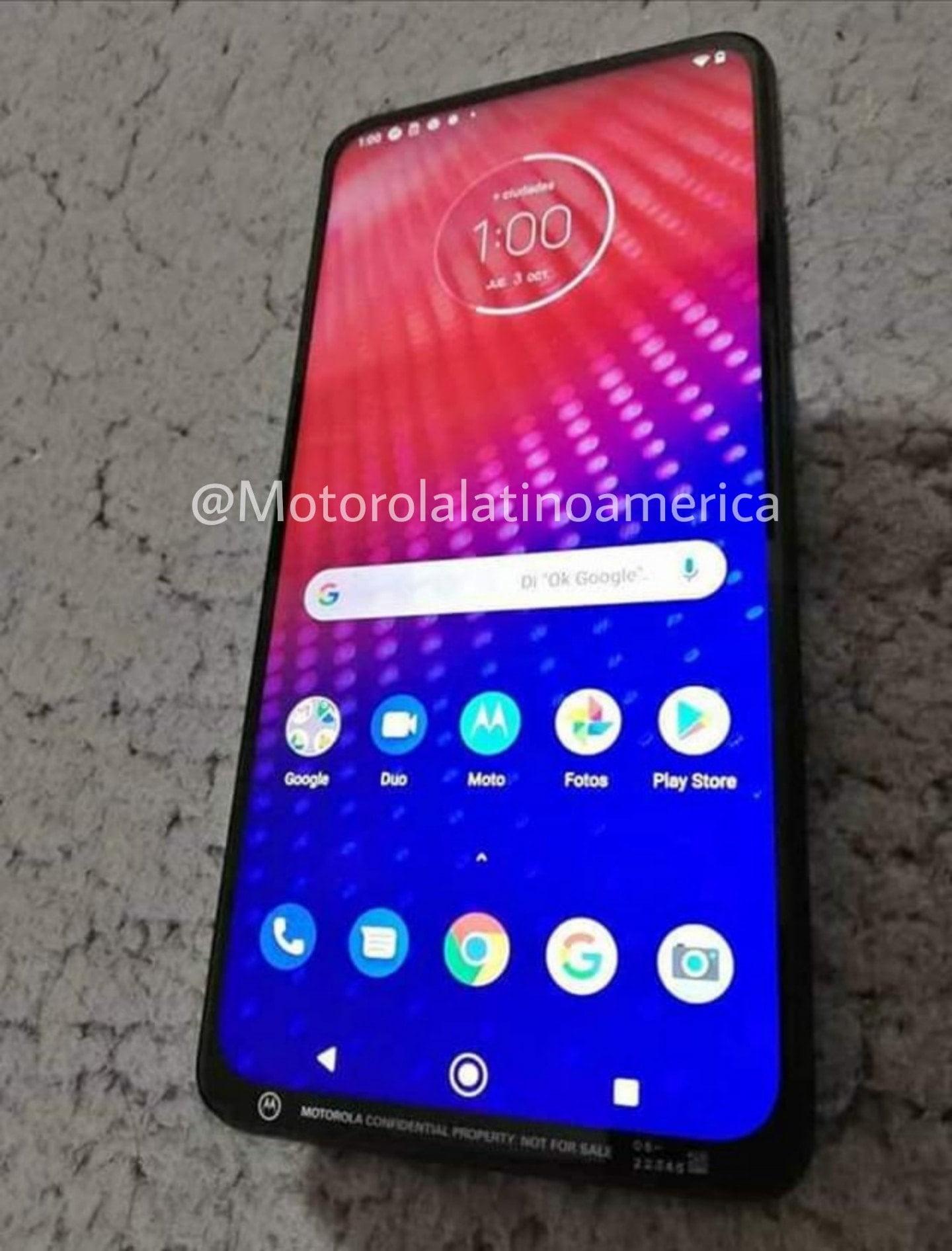 Unknown Motorola phone with pop-up selfie camera leaks in wild