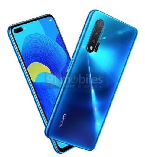 Huawei Nova 6 5G Press Render