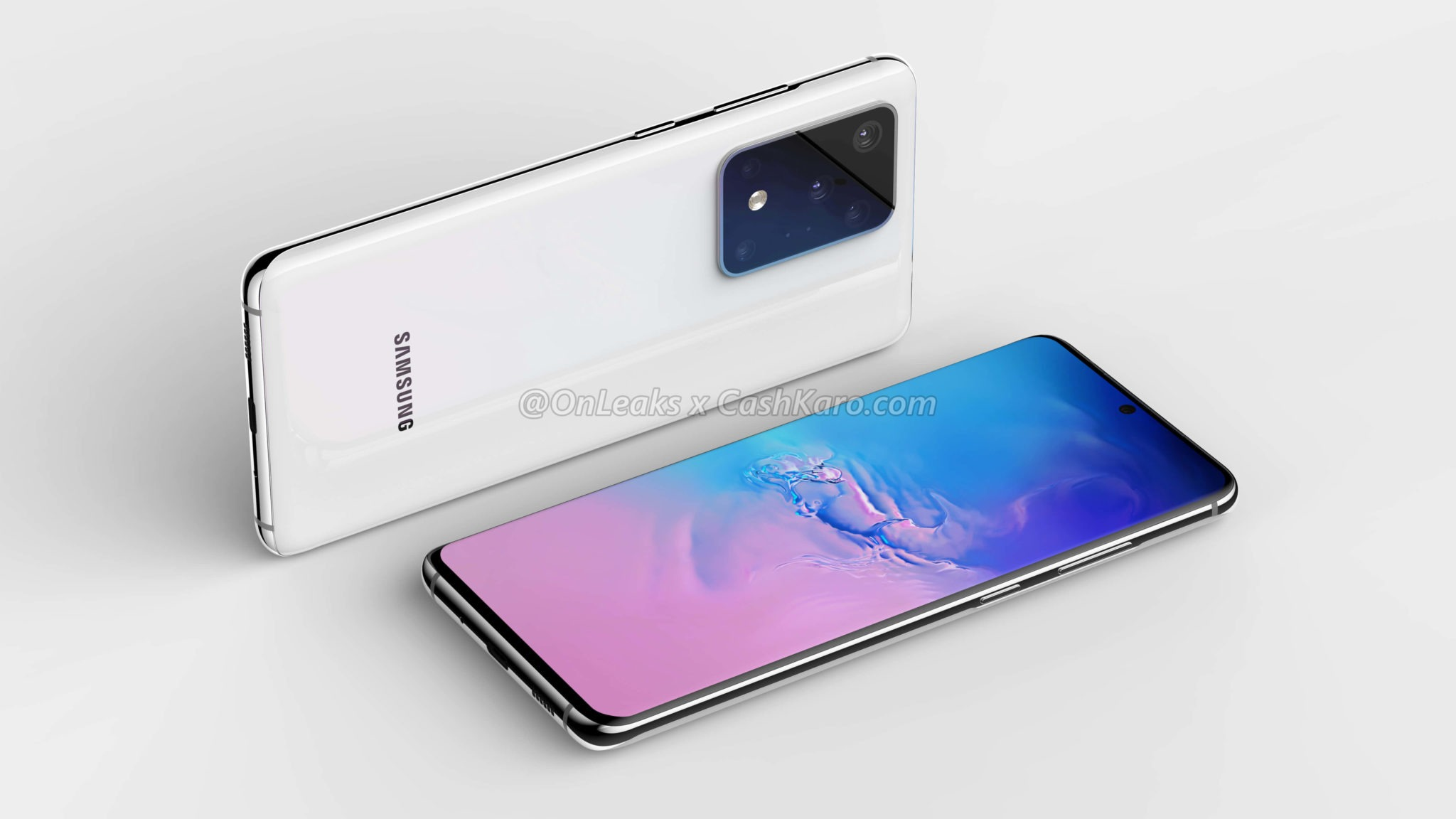 This is the Samsung Galaxy S11+ with a massive camera module