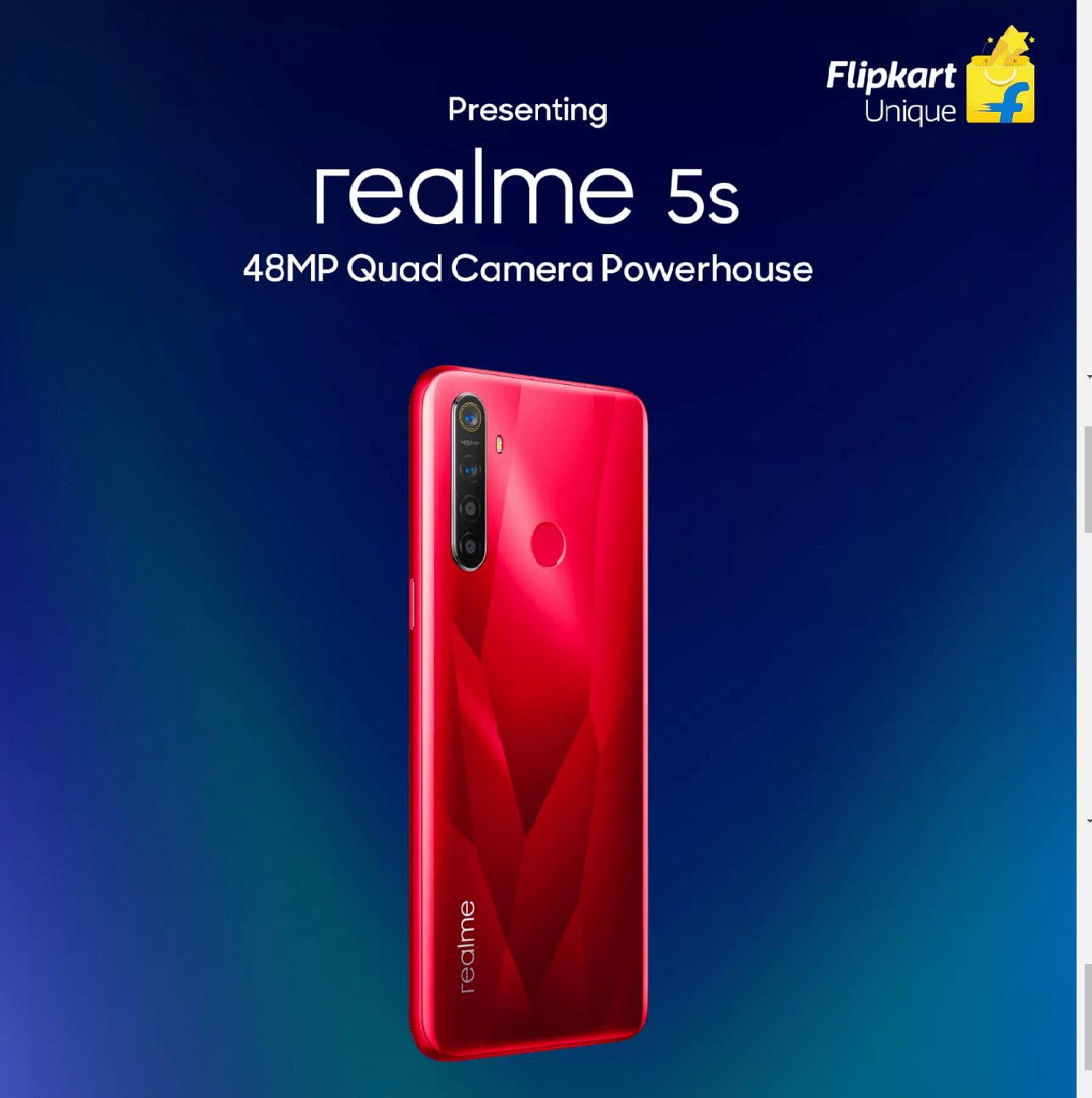 Realme 5s Design