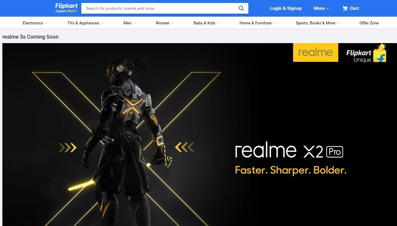 Flipkart confirms Realme 5s launching soon in India