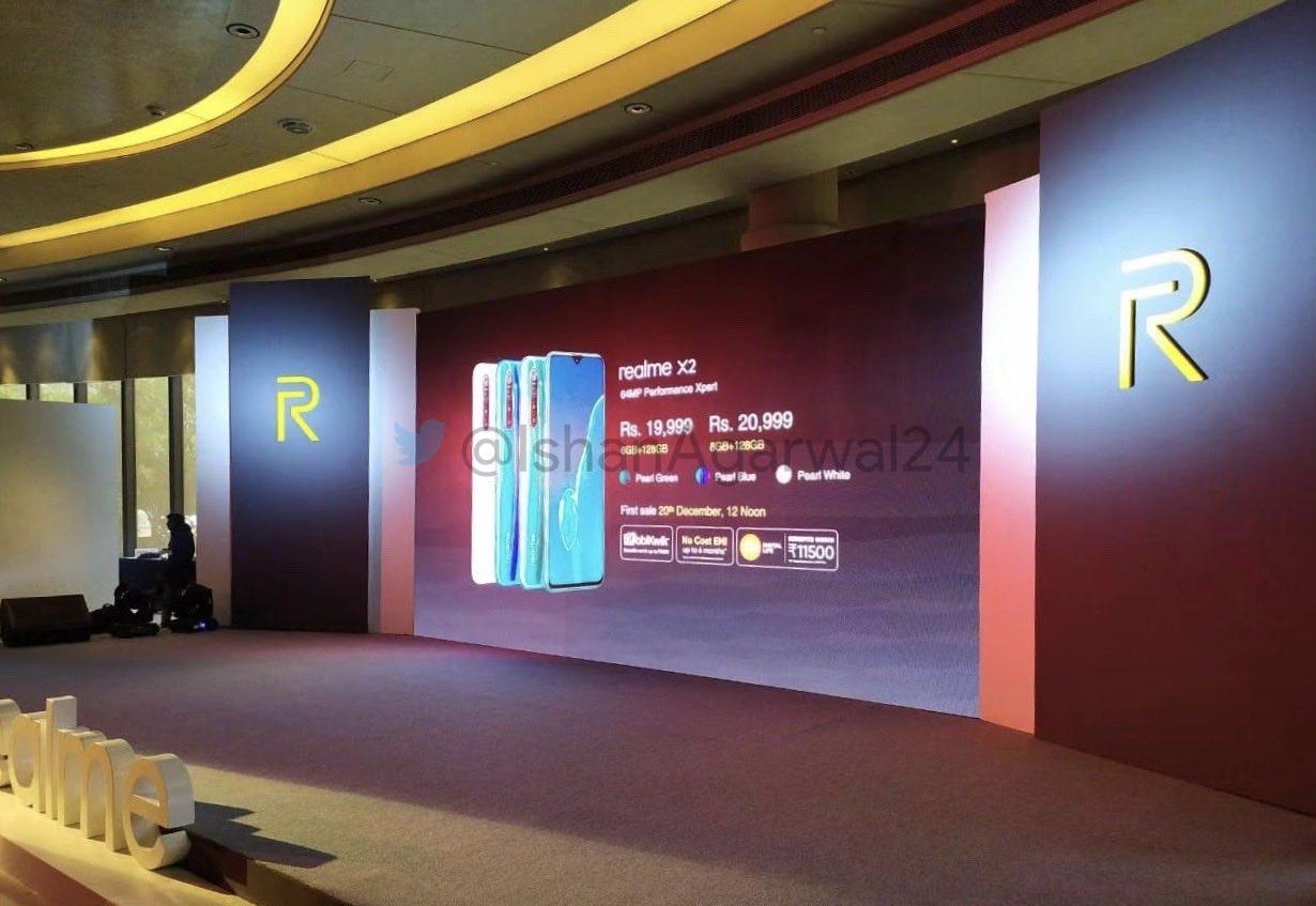Realme X2 price in India