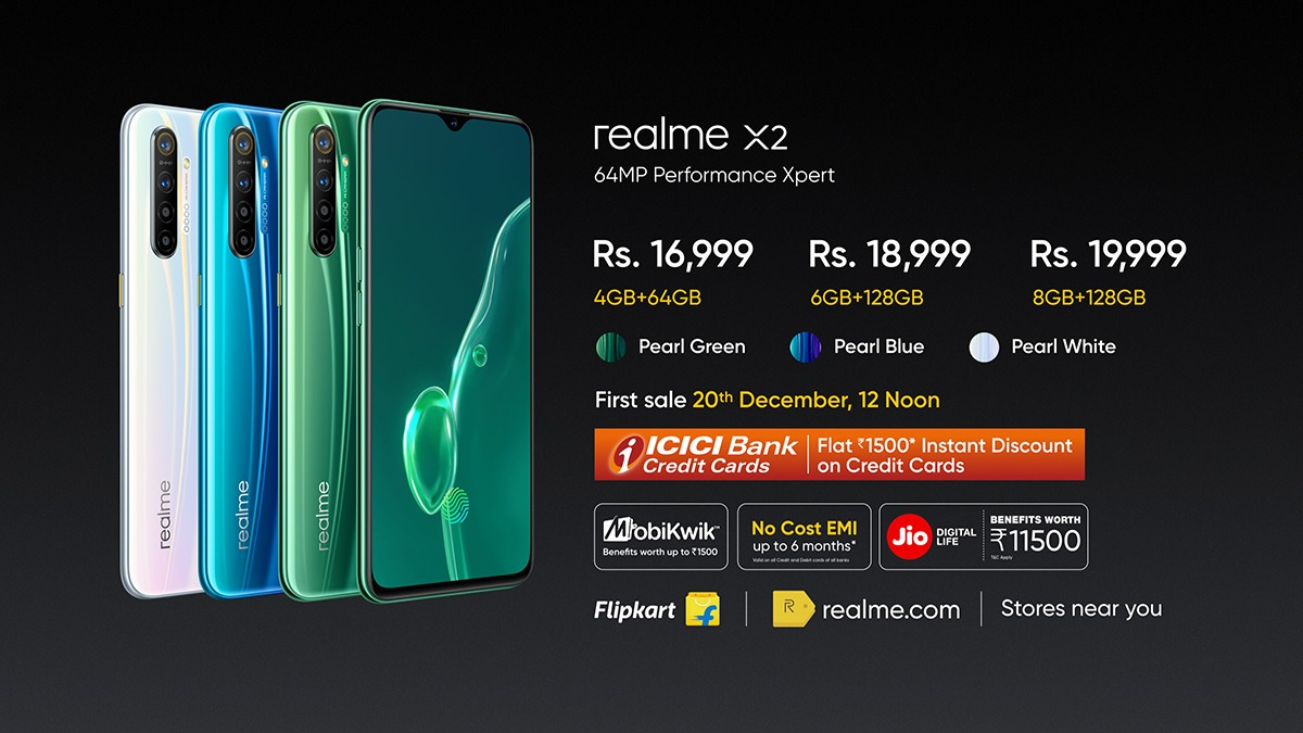 Realme X2 Pricing & Availability