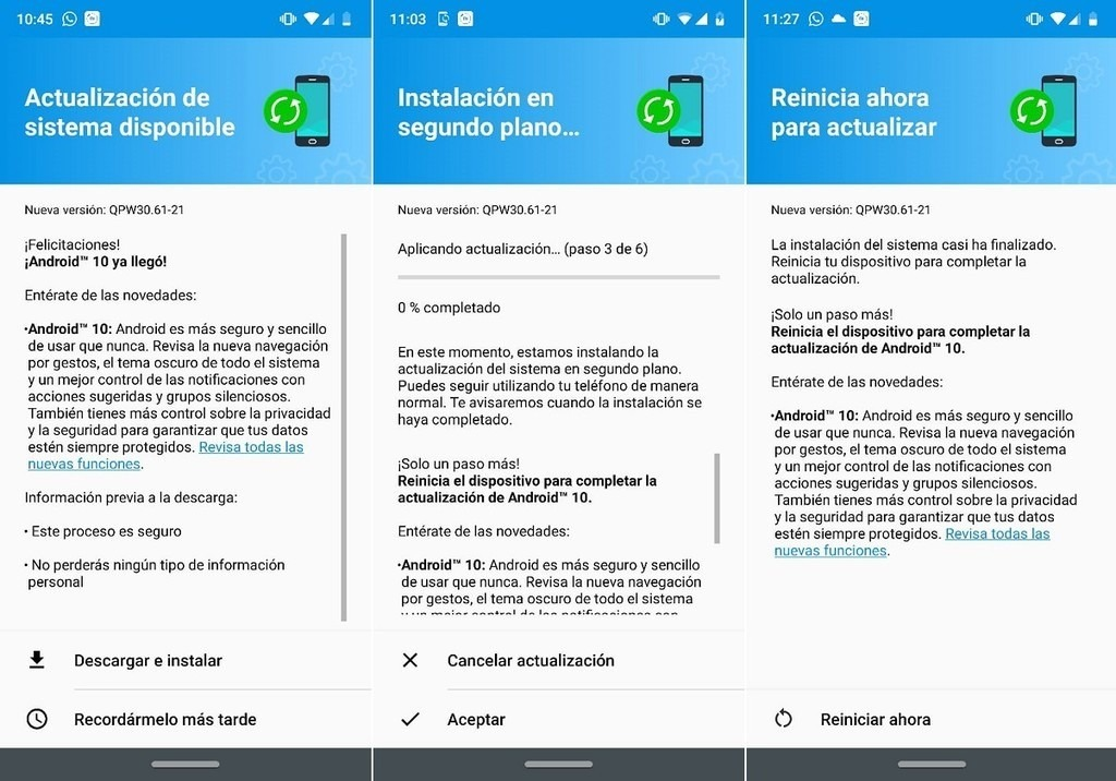 Moto G7 Plus Android 10 Update