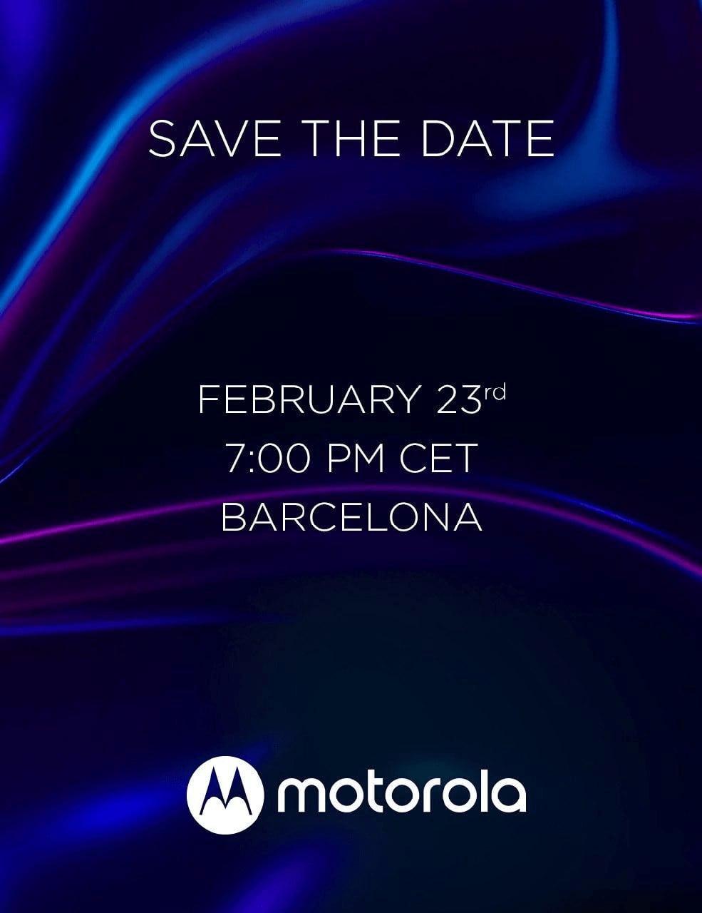 Motorola's February 23rd Event Invite