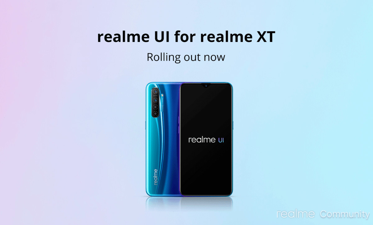 Realme XT Realme UI Update